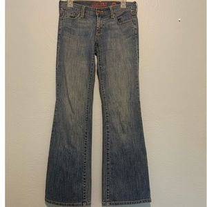 New York & Company East Side Flare Blue Jeans